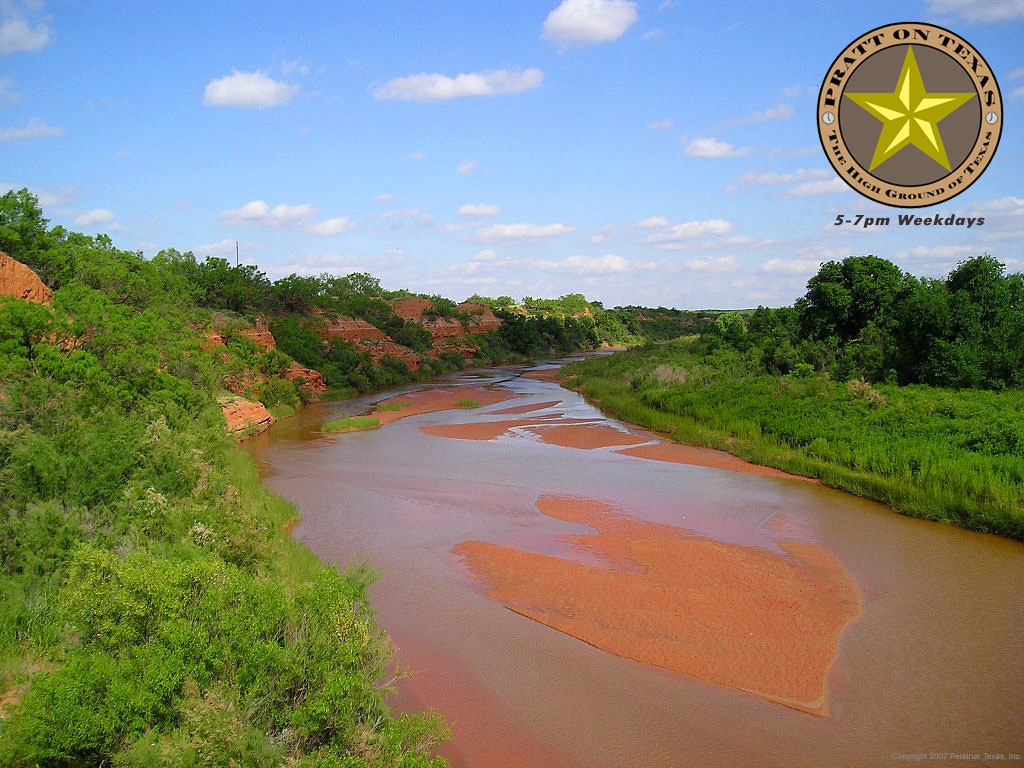 Double Mountain fork of the Brazos River just north of Rotan on Texas 70